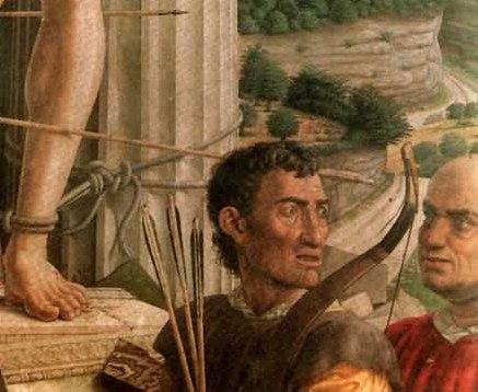 mantegna-san-sebastiano dettaglio