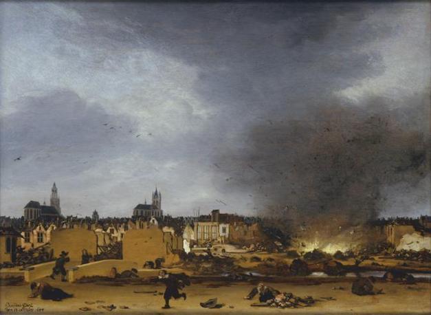 Egbert van der Poel,    Veduta di Delft dopo l' esplosione del 1654