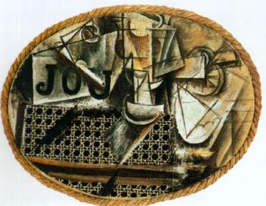 Picasso natura morta con sedia impagliata arte scrittura - Pablo picasso nature morte a la chaise cannee ...