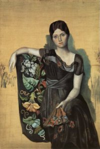 4-1 Portrait of Olga in the Armchair-1917