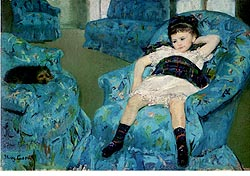 cassatt girl in blue