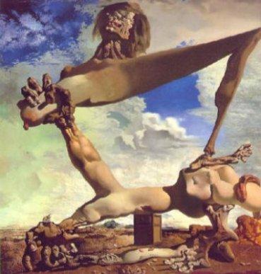 Salvador Dalì, Costruzioe molle con fave bollite: presagio di guerra civile
